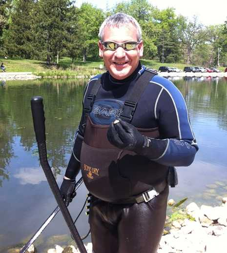 Jim in drysuit